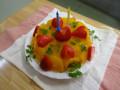 5月 おめでとう!: 清見オレンジの寒天寄せ