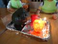 ハロウィン: カボチャ・パプリカでこわい顔とやさしい顏のジャックオーランタンを作りました。