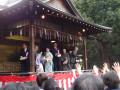 節分: 旗岡八幡神社の節分祭に参加しました。