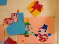 こぐまっ子のクリスマス: 「プレゼント」「手形のくつした」「記念すべき初絵具の作品」の3点セットです