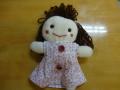 完成した人形には、保護者の方とお子さんで名前をつけてもらいました。 この子は「ポポちゃん」です!
