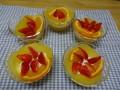 リンゴ寒天にヨーグルトクリームとフルーツで飾り付け。子どもたち皆に大人気のデザートでした。