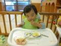 蒸しパンもスープもニコニコしながら食べてくれました。ありがとう!